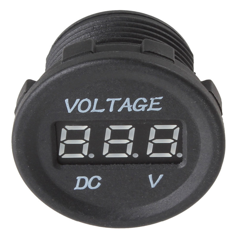 DC 12V 24V LED LED Car Display Digital Voltmeter Electric Voltage - Ավտոմեքենաների էլեկտրոնիկա - Լուսանկար 5