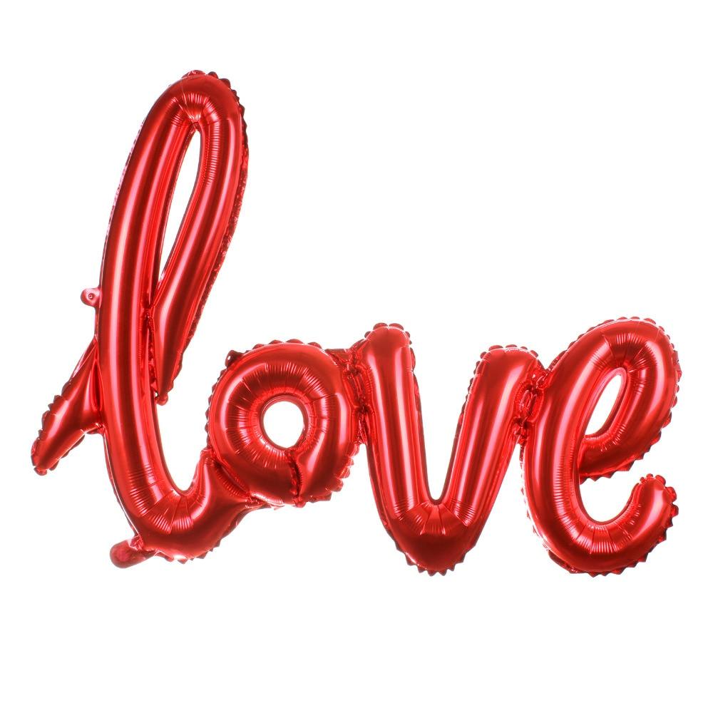 Ligaturer Kärlek Letter Foil Balloon Anniversary Bröllop Valentines - Semester och fester - Foto 2