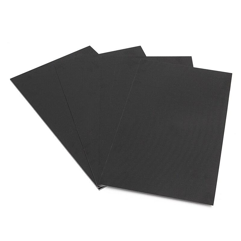 Placa de fibra de vidro cola epoxy g10 fr4 placa de fibra de vidro preto para diy faca lidar com artesanato suprimentos 300x170mm