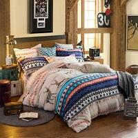 Fluffy Plush Flannel Fleece Warm Soft 4Pcs Queen Size Bed Quilt Duvet Doona Cover Set Classic