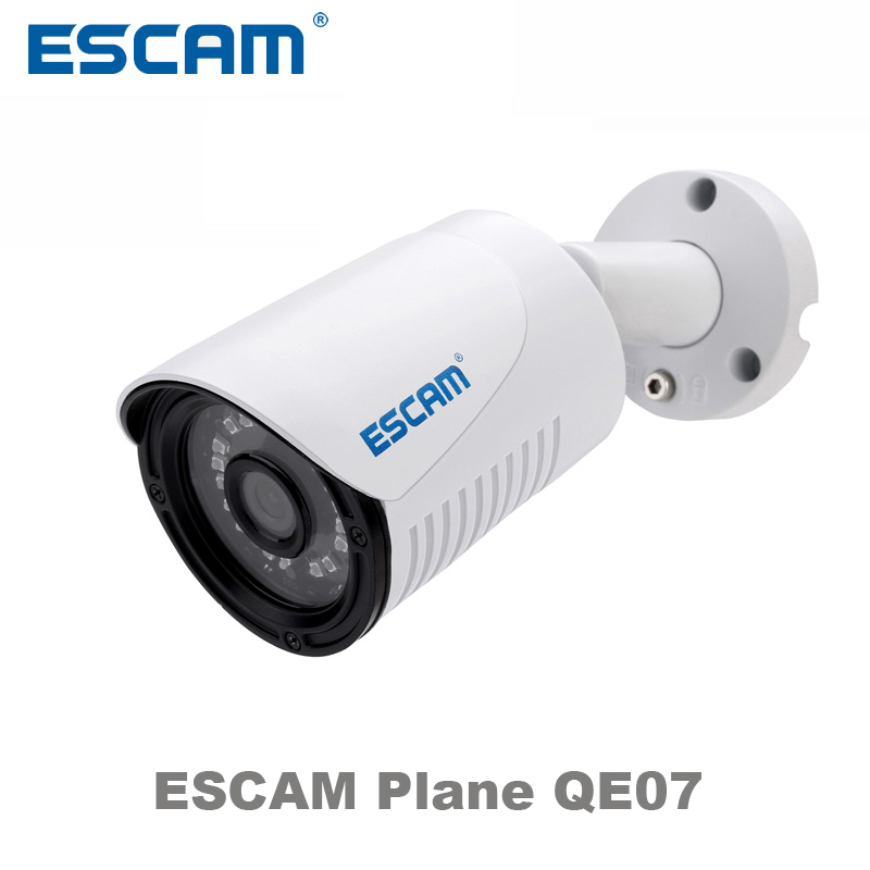 ФОТО ESCAM Plane QE07 Network waterproof Outdoor POE ip camera Night Vision IR-Cut Support motion detector p2p colud ip bullet camera