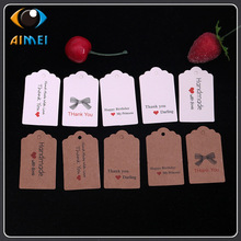 Paper Labels Swing-Tag Kraft Present Thank-You Hand-Made Price-Lists Love-Tag with