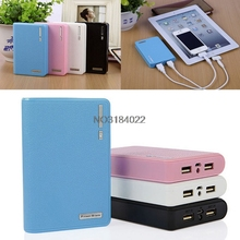 Double USB 4x 18650 Power Bank External Battery Charger DIY Box for Mobile Phone #4XFC# Drop Ship