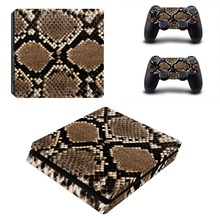 Serpentine Decal Skin For PS4 Slim Console Cover For Playstation 4 PS4 Slim Skin Stickers+ Controll