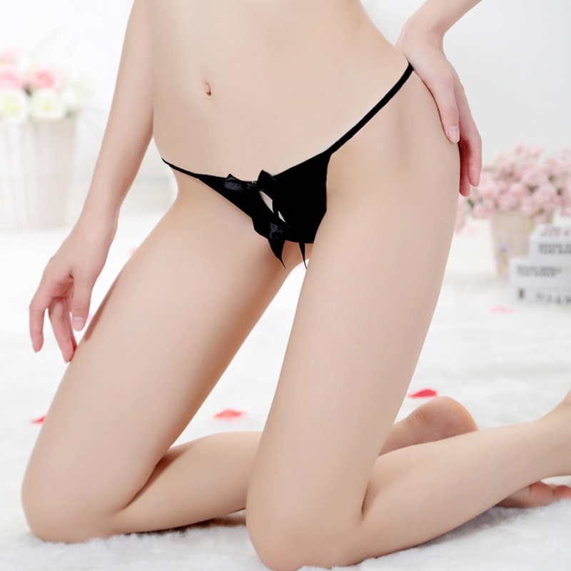 Open crotch thong pussy consider