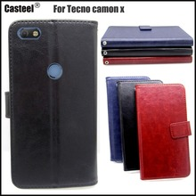 Casteel Classic Flight Series high quality PU skin leather case For Tecno Camon X CA7 Case Cover Shield
