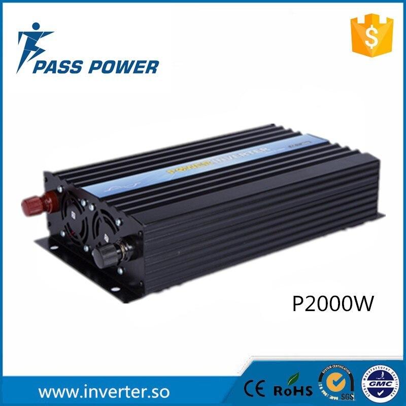 Pleine puissance soft start off grille 2000 w le convertisseur dc ac, pur onde sinusoïdale conversor