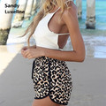 2016 Shorts Women Summer Style Fashion Women Shorts Leopard Print Hot Sexy Short Women Chiffon Summer Holiday Shorts Cheap Sale