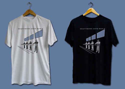 Забавные футболки с круглым вырезом новая Kraftwerk Expo Remix логотип Для мужчин короткие Дизайн футболки