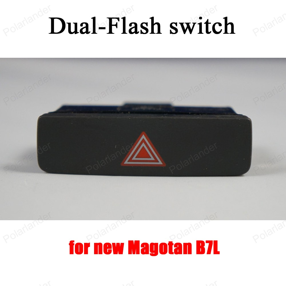 double flash button emergency light alarm warning switch for V-olkswagen new M-agotan B7L 3AD 953 509