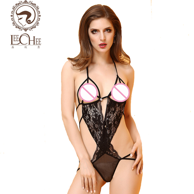 latex lingerie group - Leechee Q872 latex lingerie sexy hot erotic lace chollow out exposed breast  Exotic Sets underwear lenceria