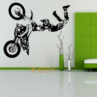STUNT BIKE MOTORBIKE X GAMES MX MOTORCROSS DIRT BIKE Creative Wall Sticker Vinyl Art Decal Window