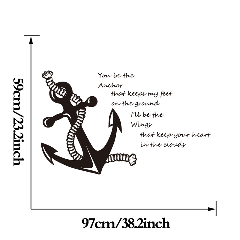 You be the anchor quotes vinyl wall decals rope and anchor art stickers for living room decoration in wall stickers from home garden on aliexpress com