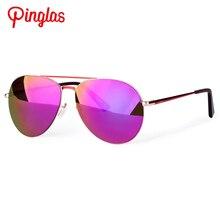 PINGLAS Pilot Style Sunglasses Women Metal Frame Polarized Eyewear Adult Outdoor Driving Sun Glasses Rimless Glasses