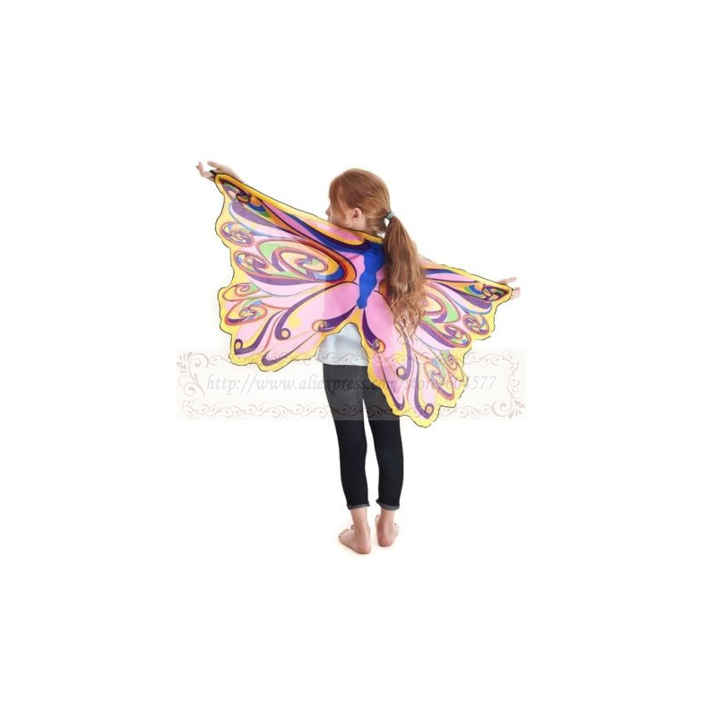 Fariy Rainbow Wing Girls Costumes for Halloween Dress Up Clothes, Pretend Play,Christmas Gifts for Kids