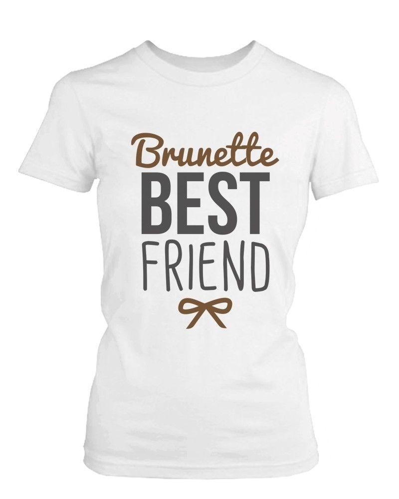 Gildan Meilleur Ami Chemises-Blonde et Brune Meilleur Amis Correspondant  BFF T-Shirts Naturel