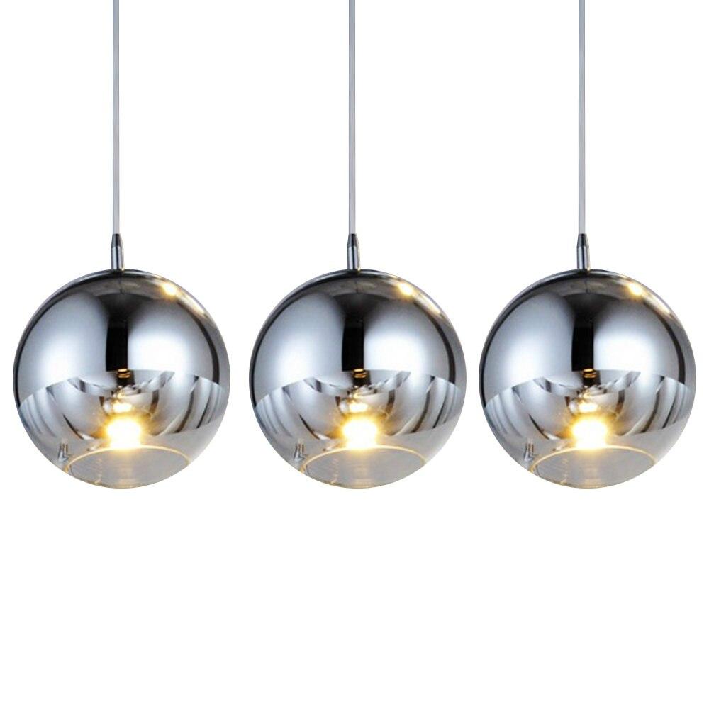 MAMEI Free Shipping 3 Lights Modern Glass Ball Pendant Lamp Kitchen ...