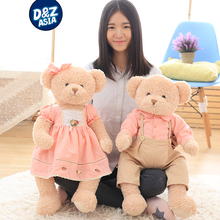 Korean couple wedding teddy bear plush toy doll wedding gift girl Valentine's Day gift(China)