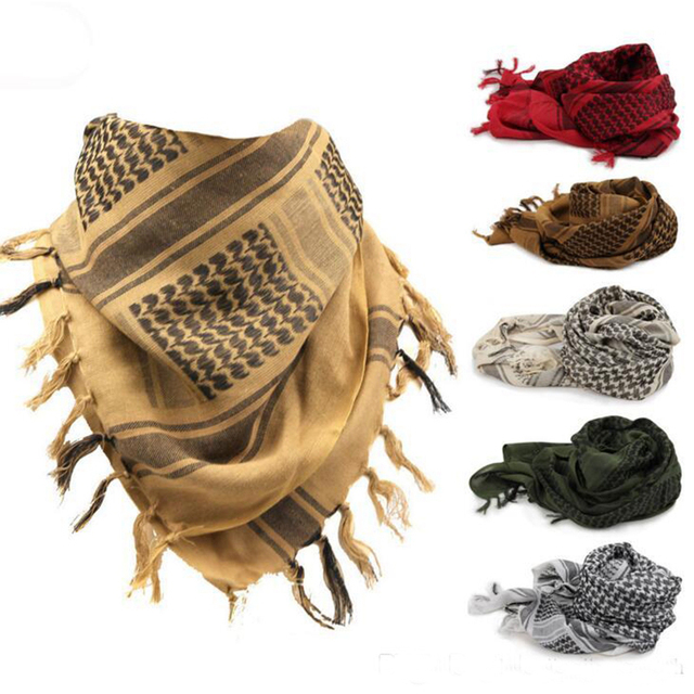 Blue Tactical Scarfs Shemaugh Turban Headscarf US Army Arab Airsoft  Windproof Hunting Scarfs 2378098d611