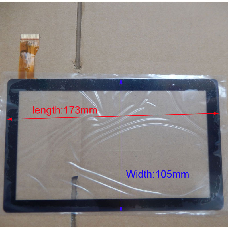 Replacement 7inch 7 capacitive panel touch screen digitizer glass for All Winner A13 A23 A33 Q88 Tablet PC MID new capacitive touch screen panel digitizer glass sensor replacement 7 mystery mid 713g mid 703g tablet free shipping