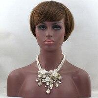 สวยเปลือกมุกดอกไม้จี้สร้อยคอที่ทำด้วยมือมุกแต่งงานสร้อยคอพรรคดอกไม้สร้อยคอ2ชิ้น/ล็อตจั...