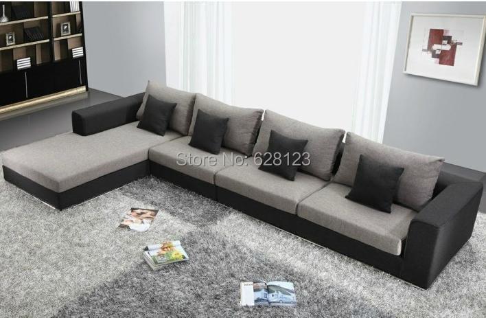 Kw718 4 meters corner sofa stainless steel frame sofa for Sofa 4 meter