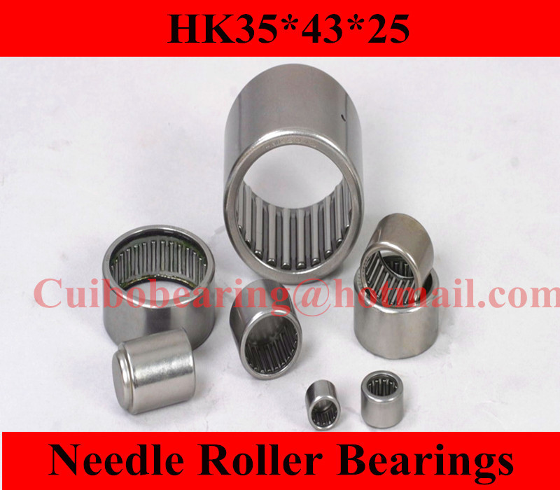 Free shipping 5PCS  HK354325 Drawn cup Needle roller bearings 7942/35 the size of 35*43*25mm bk5025 drawn cup needle roller bearings 5943 50 the size of 50 58 25mm