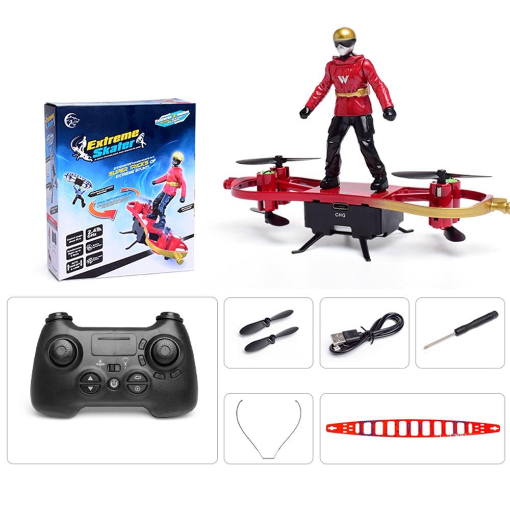 Крутой пульт дистанционного управления летательный аппарат радиоуправляемый самолет вертолет игрушка для двойного режима самолета Прямая комплект - Цвет: red