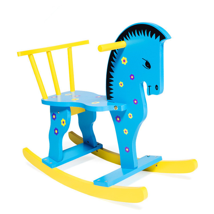 Wooden Rocking Ride On Horse Toy For Kids