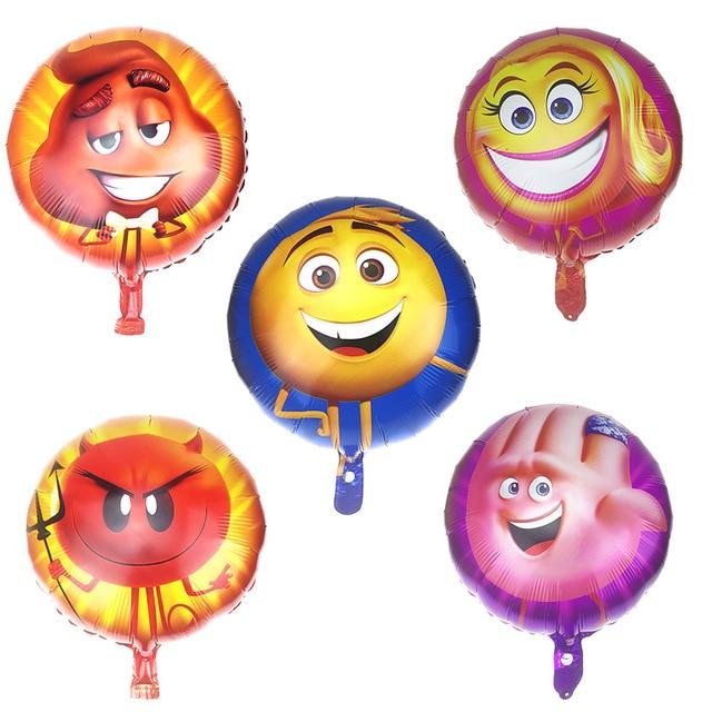 5pcs Cartoon Emoji Finger Little Devil Balloons Helium Balloon Children Classic Toys Happy Birthday Party Supplies
