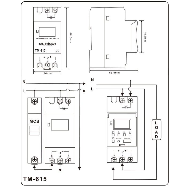 SINOTIMER Značka Electronic Týdenní 7 dní Programovatelný - Měřicí přístroje - Fotografie 6