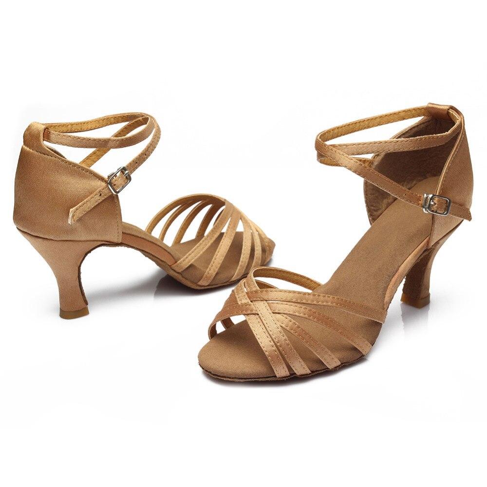 ¡Oferta! zapatos de baile profesionales para mujeres, zapatos de baile de salón, zapatos de baile latino para señoras, tacón de 5 CM/7 CM 4