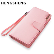 Hot Fashion Female wallets High-quality PU Leather Wallet Women Long Style Cowhide Purse Brand Capacity Clutch Card Holder Pouch(China)