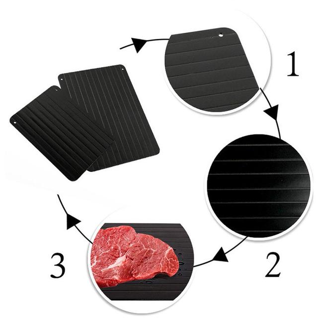 2-in-1 Fast Defrosting Meat Tray chopping board Rapid Safety Thawing Tray Quick Thawing Plate For Frozen Food Meat Kitchen tool 4