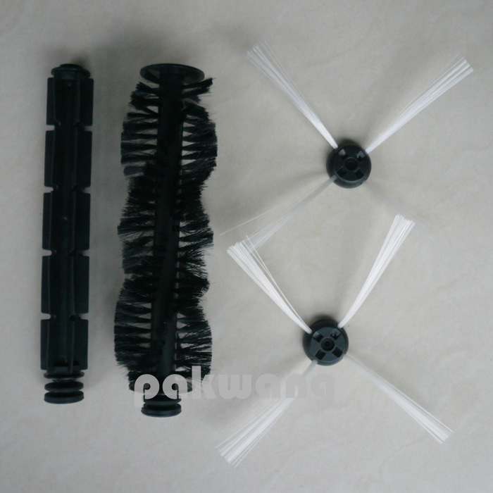 Seebest C565+ Robot vacuum cleaner parts, A320 and A325 side brush 2 pcs, rubber brush and hair brush 1 pc Vacuum  Parts supply