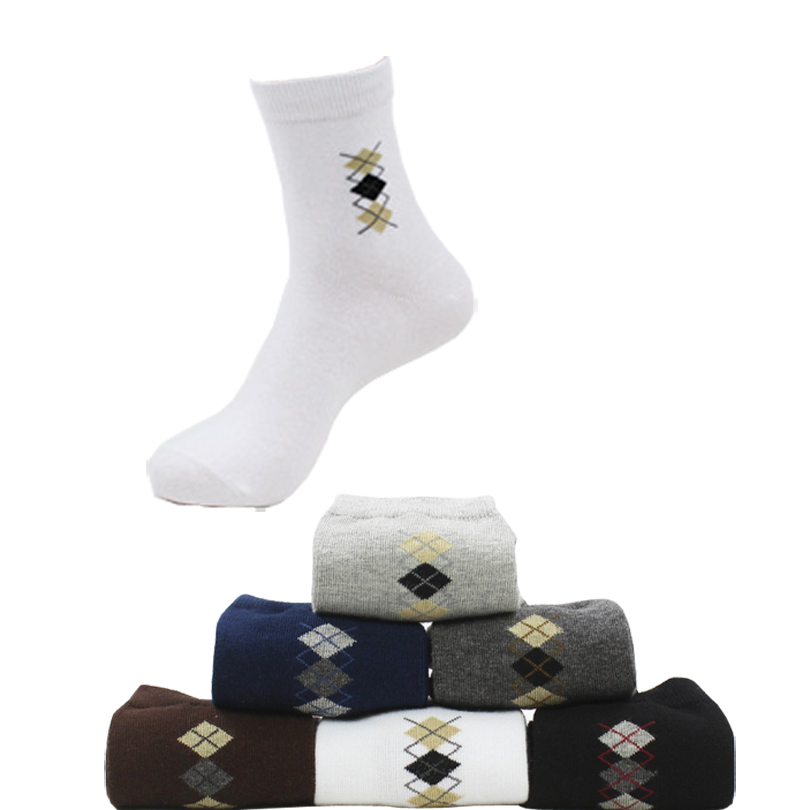 CHENG HENG 10 Pairs / packet Summer Autumn Season New Style Hot Mens Socks Square Shapes Patterns Menswear Middle Tubes Socks