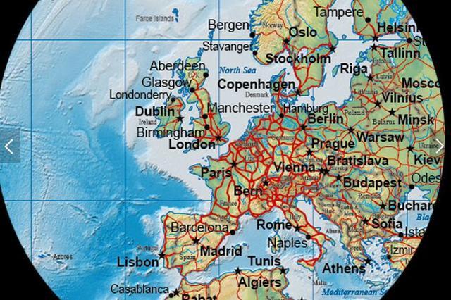 Online Shop customize 3D Detailed World Map Wallpaper Mural