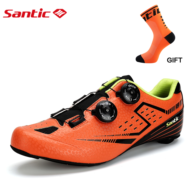 inbike Men Cycling Road Shoes Ultralight Carbon Fiber Auto locking Athletic Racing Team Bicycle Shoes Cycling
