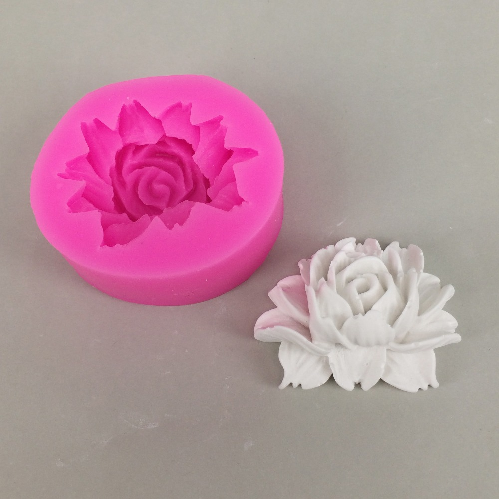 3D Flower Shape Silicone Soap Mold Making Chocolate Mould Tray Homemade Making DIY Flower Candle Mould Soap Form