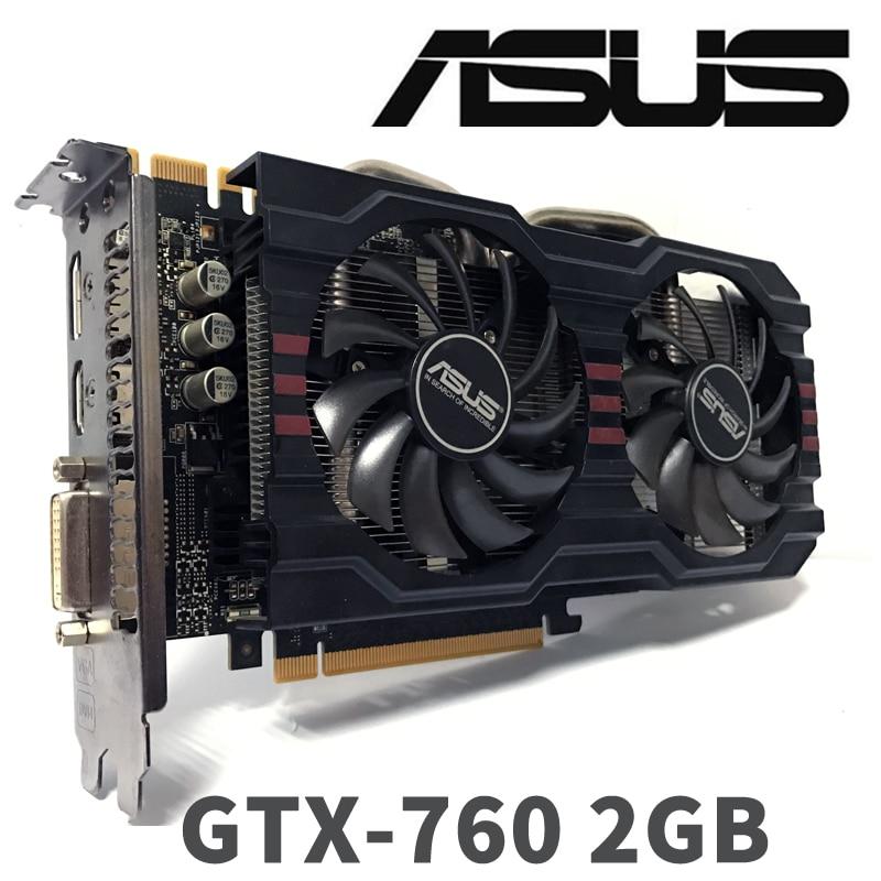 Asus GTX760 2GB D5 DDR5 256Bit PC Desktop GTX 760 2G  GTX760 2G Graphics Cards PCI Express 3.0  Computer Video Card HDMI