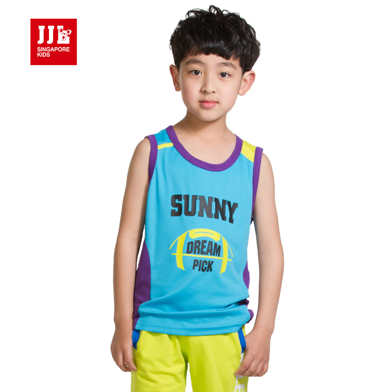 boys t shirt sleeveless kids tank top childre tshirts size ...