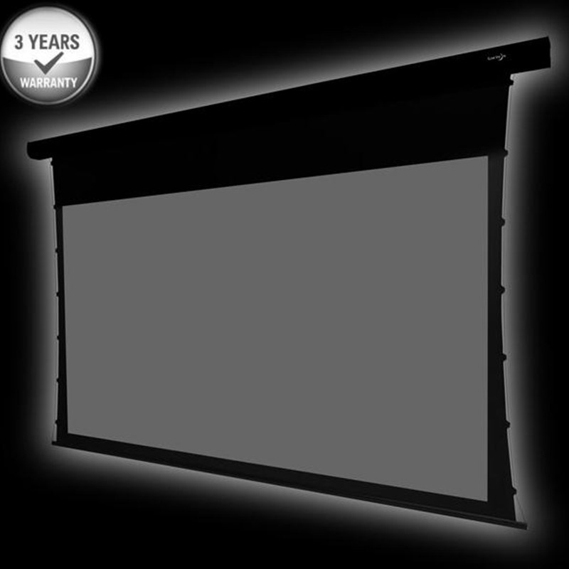 110 ''diagonale 16: 9 HDTV Home Cinema 4 K écran de projection motorisé à Tension par languette avec ALR gris lumière ambiante rejetant le gris ATS110