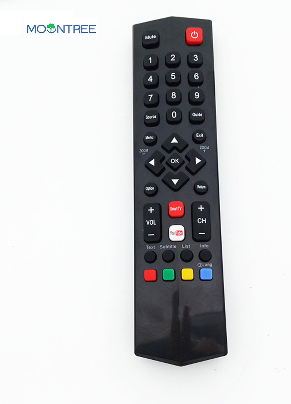 US $8 52 40% OFF|remote control for TCL YouTube for smart TV A/V controle  remoto 433mhz black RC200 latest factory price high quality MOONTREE -in