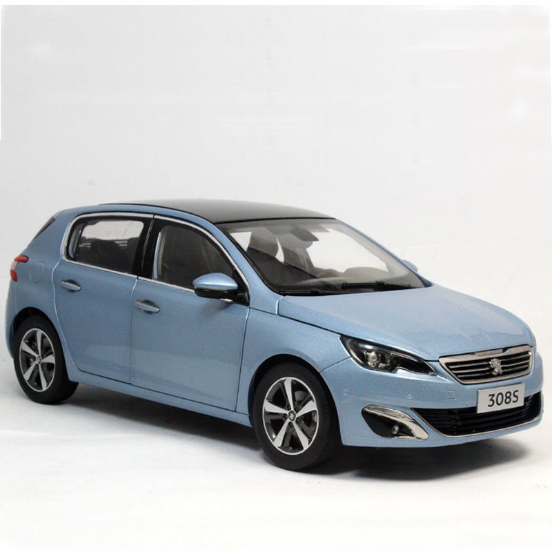 все цены на  1:18 Diecast Model for Peugeot 308S 2016 Blue Hatchback Alloy Toy Car Collection 308  онлайн