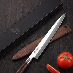 Image 3 - 日本刺身ナイフ柳葉フィレットナイフ寿司ドイツ輸入 70Cr15MoV 鋼包丁サーモンささいなスライス剥離