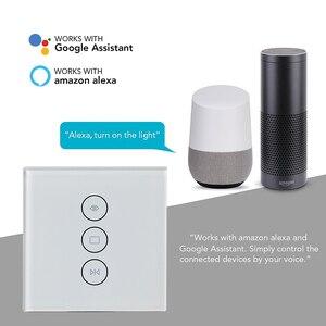 Image 2 - Wifi di tocco tenda interruttore interruttore della parete di controllo di voce da Alexa/Google telefono di controllo Per casa intelligente del motore tenda Elettrica UE/USA