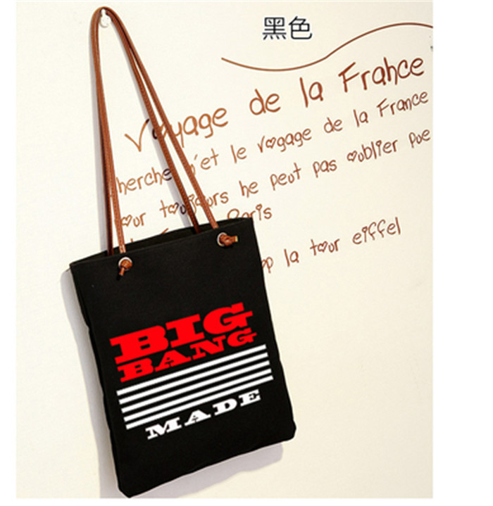 KPOP Bigbang GD Top Made Cavas Schoolbag Backpack Satchel Ulzzang single-shoulder bag k- ...