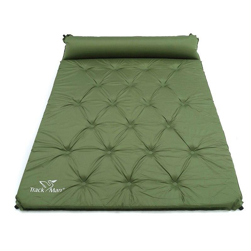 Здесь можно купить  2 Person Automatic Inflatable Mattress Outdoor Camping Mat Pad Self-Inflating Moistureproof Picnic Tent Mat with Pillow  Спорт и развлечения