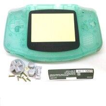 Capa de plástico que brilha no escuro para gameboy, capa de caixa de plástico para gba