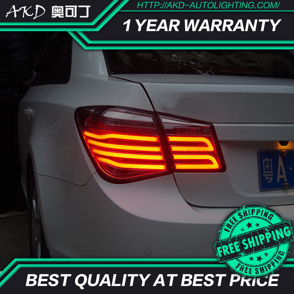 AKD tuning cars Tail lights For Chevrolet Cruze 2009 2014 Taillights LED DRL Running lights Fog